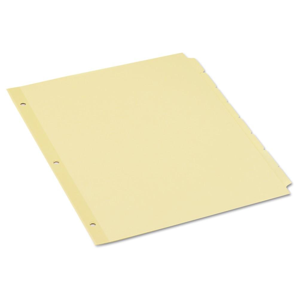 Economy Tab Dividers, 5-Tab, Letter, Buff, 36 Sets/Box