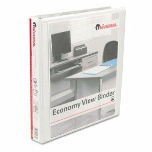 """Economy Round Ring View Binder, 1"""" Capacity, White"""