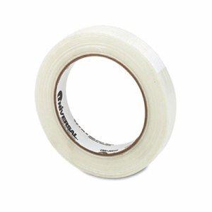 "110# Utility Grade Filament Tape, 18mm x 54.8m, 3"" Core, Clear"