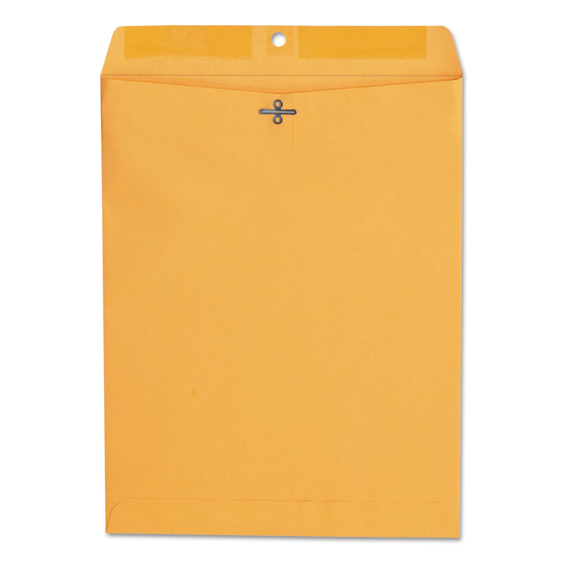 Kraft Clasp Envelope, Center Seam, 28lb, 10 x 13, Brown Kraft, 100/Box