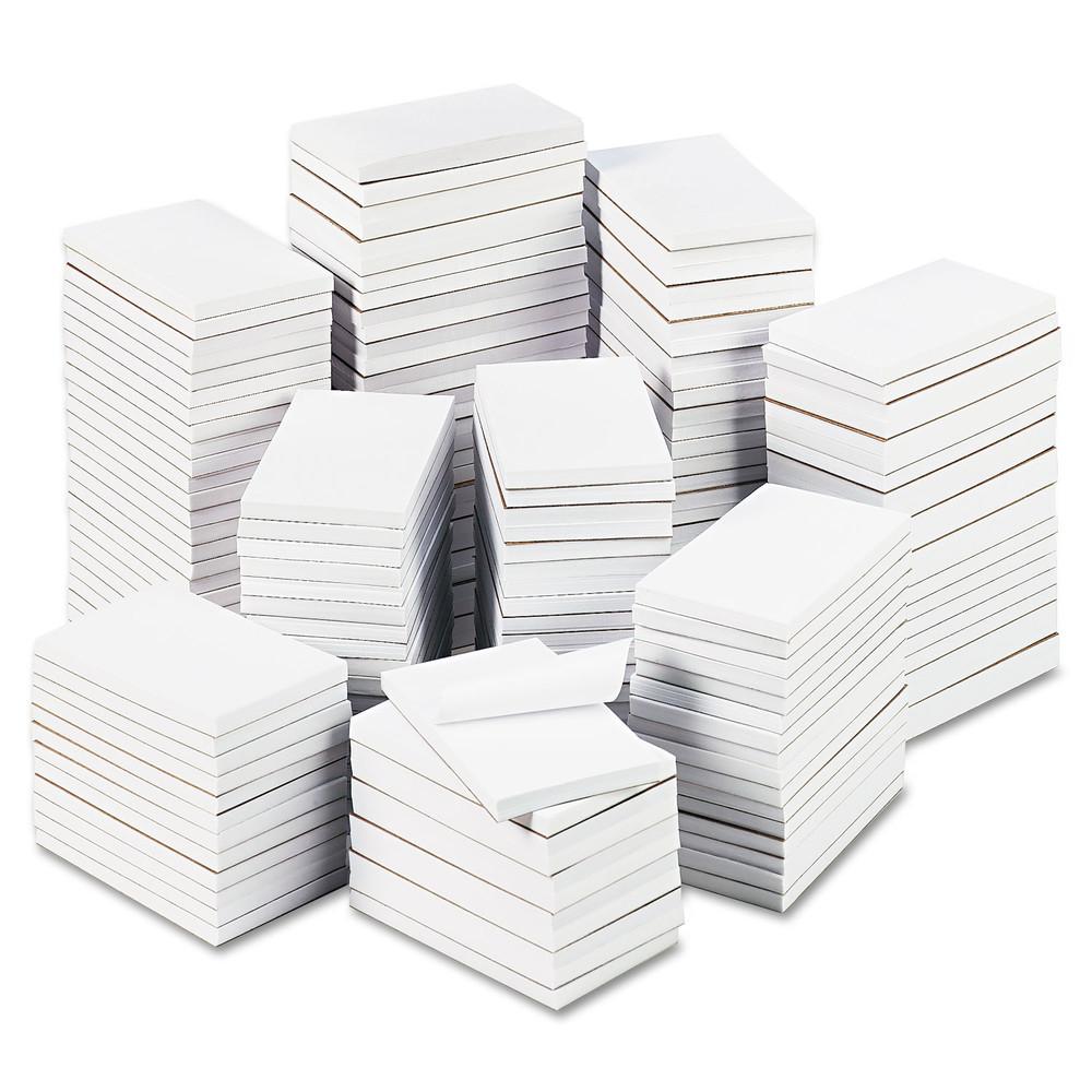 Bulk Scratch Pads, Unruled, 3 x 5, White, 180 100 Sheet Pads/Carton