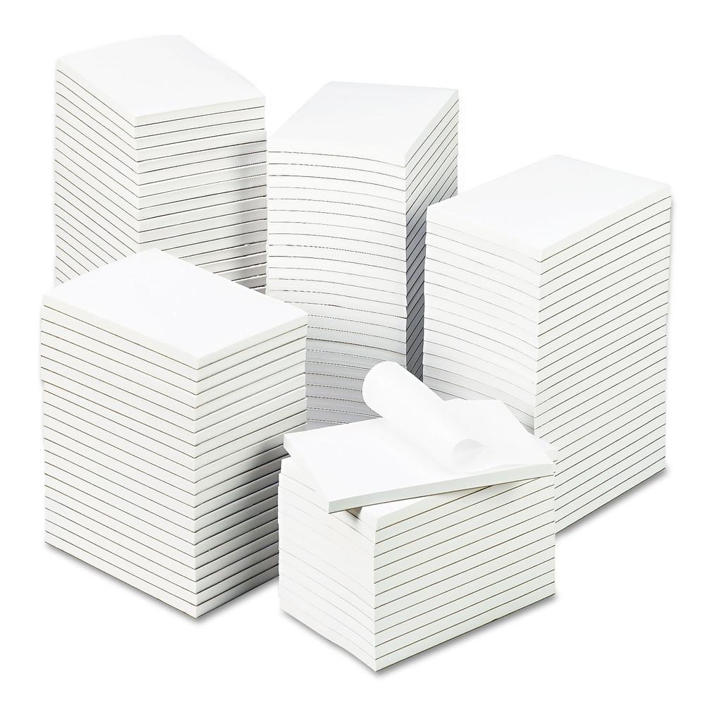 Bulk Scratch Pads, Unruled, 4 x 6, White, 100 Sheet Pads, 120 Pads/Carton