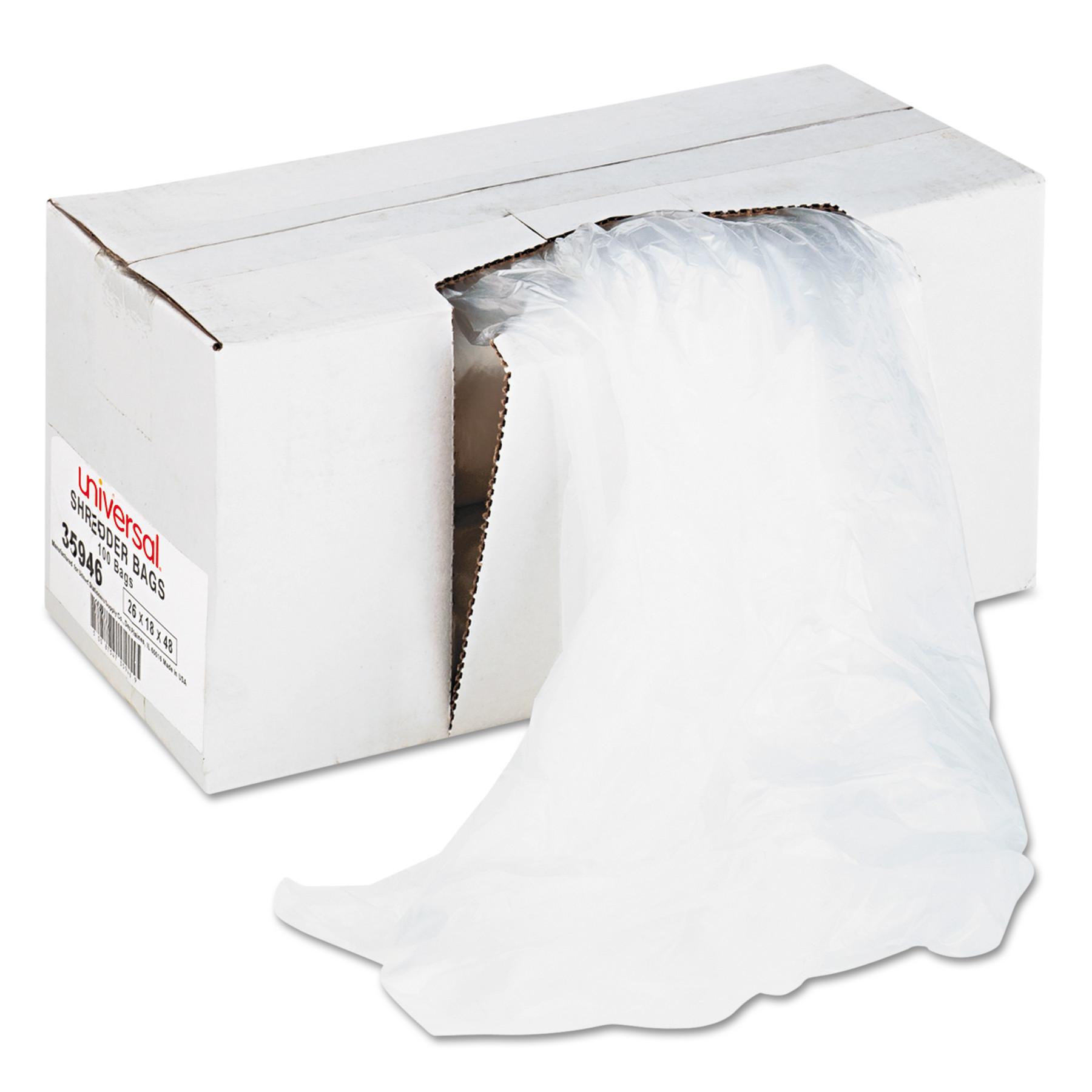 High-Density Shredder Bags, 40-45 gal Capacity, 100/Box