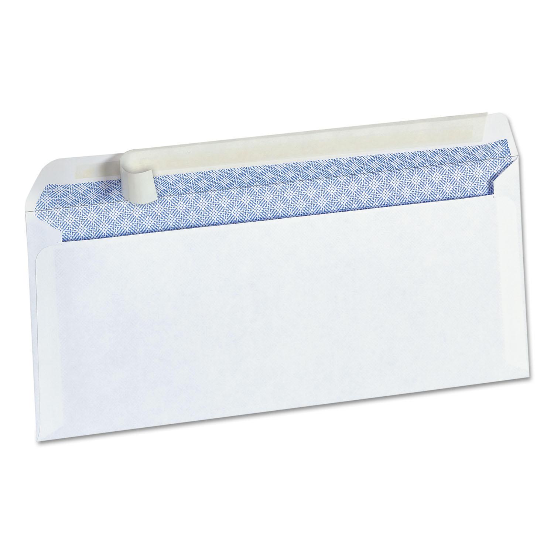 Peel Seal Strip Security Envelope, #10, 4 1/8 x 9 1/2, White, 100/Box