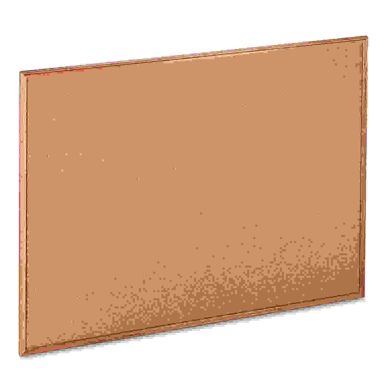 Cork Board with Oak Style Frame, 48 x 36, Natural, Oak-Finished Frame