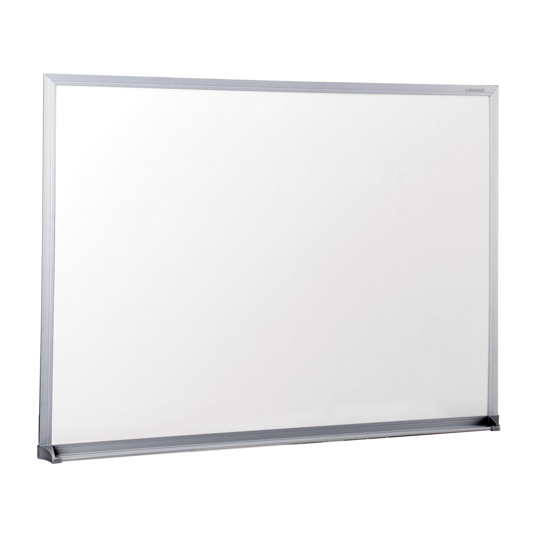 Dry-Erase Board, Melamine, 24 x 18, Satin-Finished Aluminum Frame