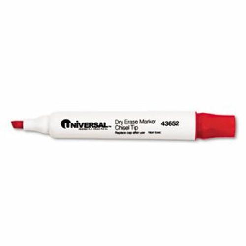 Dry Erase Marker, Chisel Tip, Red, Dozen