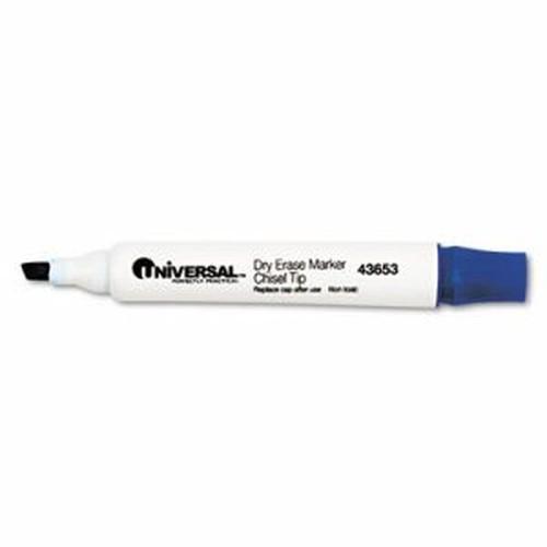 Dry Erase Marker, Chisel Tip, Blue, Dozen