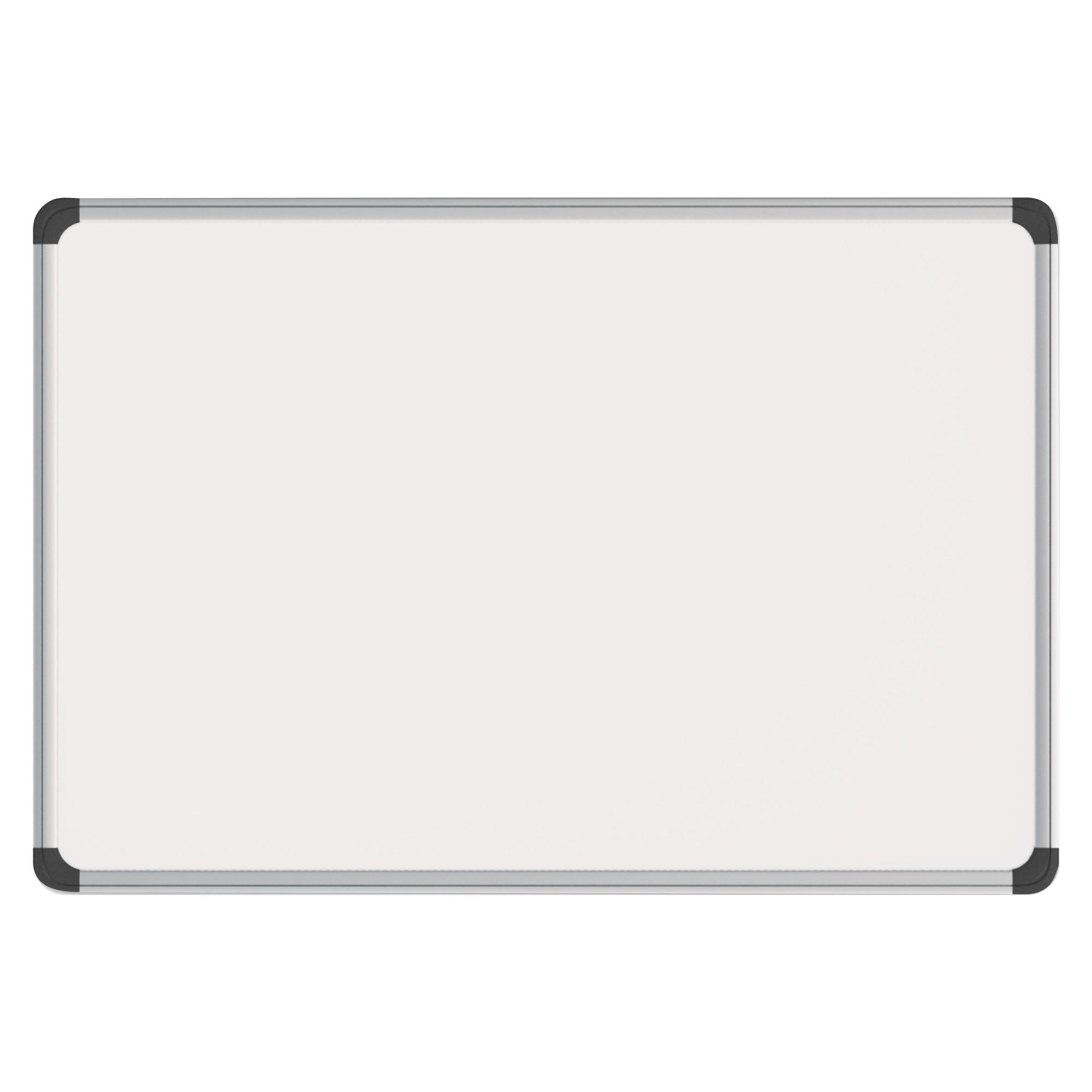 Magnetic Steel Dry Erase Board, 24 x 18, White, Aluminum Frame