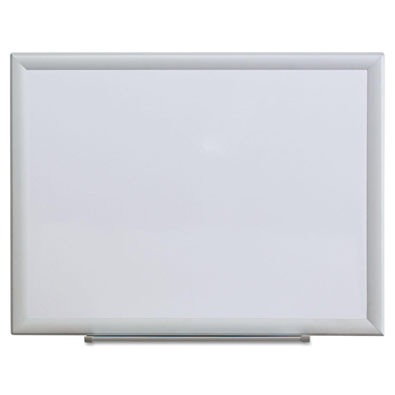 Dry Erase Board, Melamine, 24 x 18, Aluminum Frame