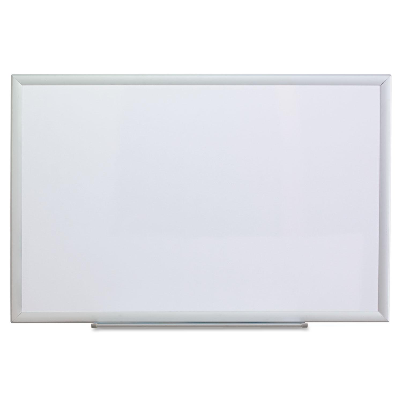 Dry Erase Board, Melamine, 36 x 24, Aluminum Frame