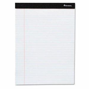 Premium Ruled Writing Pads, White, 5 x 8, Narrow Rule, 50 Sheets, 6 Pads