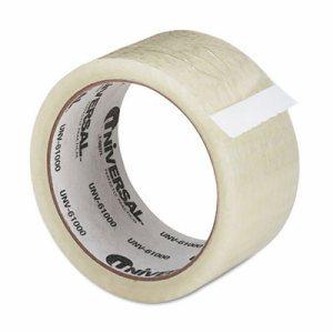 "General Purpose Box Sealing Tape, 48mm x 50m, 3"" Core, Clear"