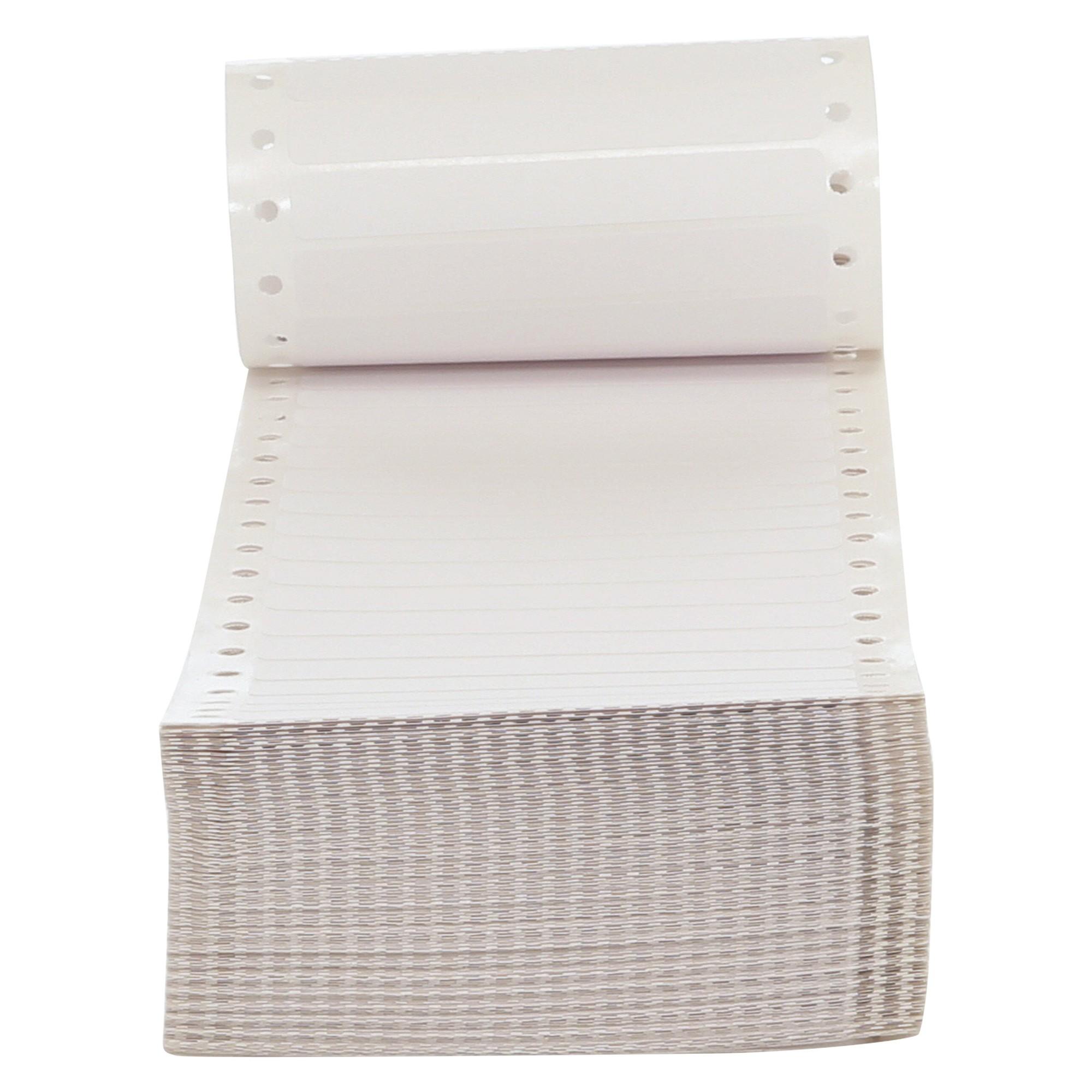 Dot Matrix Printer Labels, 1 Across, 3-1/2 x 7/16, White, 5000/Box