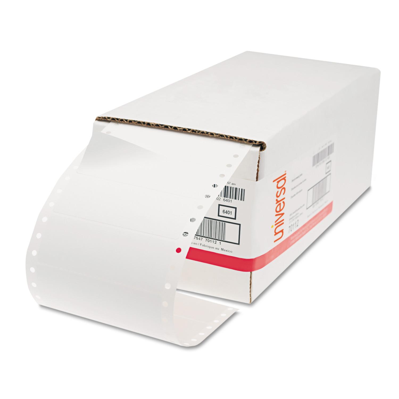 Dot Matrix Printer Labels, 1 Across, 1-7/16 x 4, White, 5000/Box