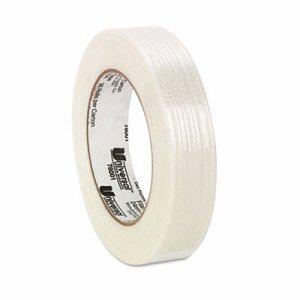 "165# Medium Grade Filament Tape, 24mm x 54.8m, 3"" Core, Clear"