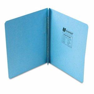 "Pressboard Report Cover, Prong Clip, Letter, 3"" Capacity, Light Blue"