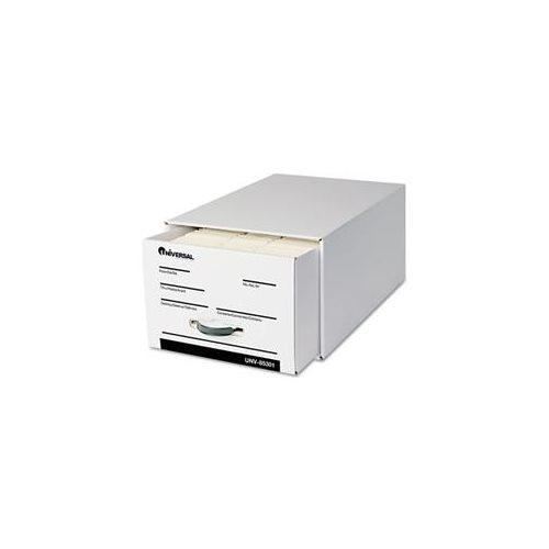 Heavy-Duty Storage Box Drawer, Legal, 17 1/4 x 25 1/2 x 11, White, 6/Carton