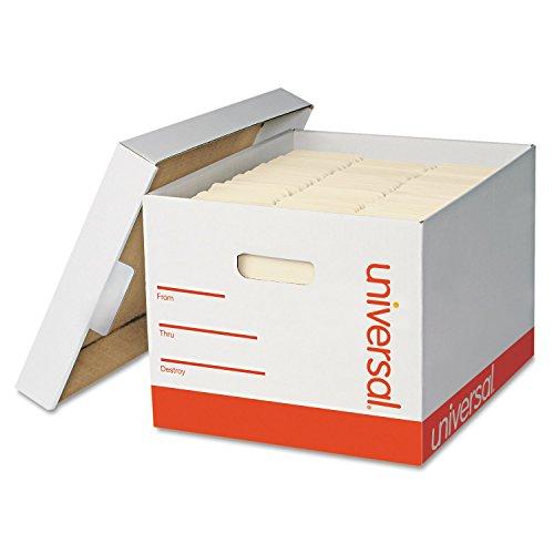 Extra-Strength Storage Box w/Lid, Letter/Legal, 12 x 15 x 10, White, 12/Carton