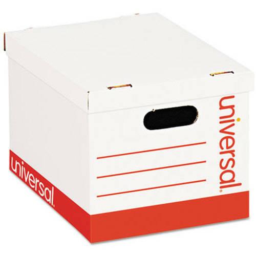 Economy Storage Box, Lift-Off Lid, Letter/Legal. White, 12/Ct