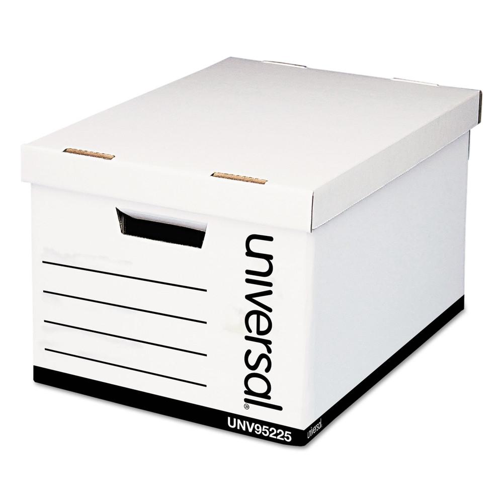 Extra-Strength Storage Box, Letter/Legal, 12 x 15 x 10, White, 12/Carton