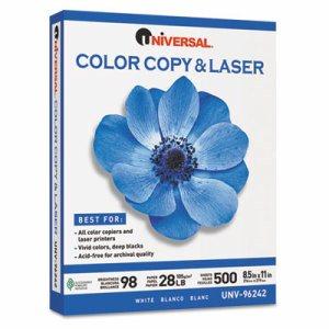 Copier/Laser Paper, 98 Brightness, 28lb, 8-1/2 x 11, White, 500 Sheets/Ream