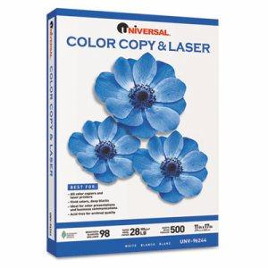Copier/Laser Paper, 98 Brightness, 28lb, 11 x 17, White, 500 Sheets/Ream