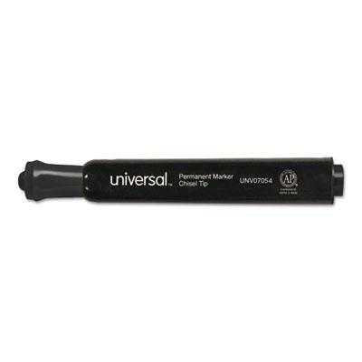 Chisel Tip Permanent Marker, Chisel, Black, 60 per pack