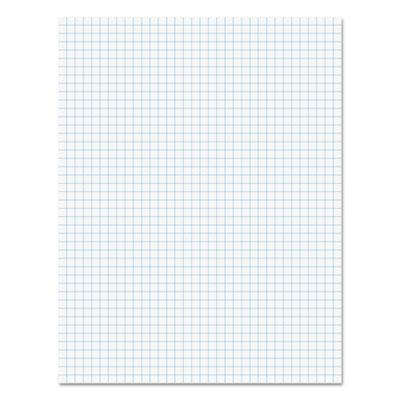 "Economy Ruled Writing Pads, Quadrille, 8 1/2"" X 11 3/4"", White,50 Sheets,1 dozen"