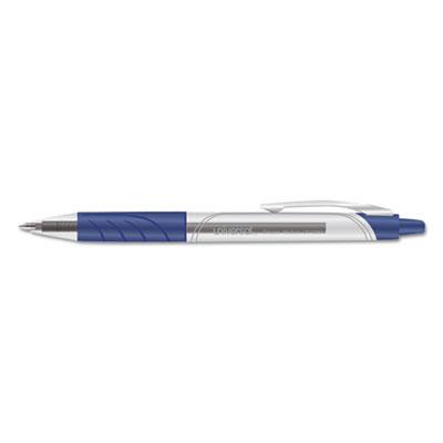 Clear Roller Ball Retractable Gel Pen, Blue Ink, Medium, 36/Pack