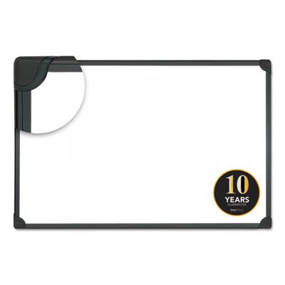 Design Series Magnetic Steel Dry Erase Board, 24 x 18, White, Black Frame