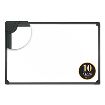 Design Series Magnetic Steel Dry Erase Board, 36 x 24, White, Black Frame