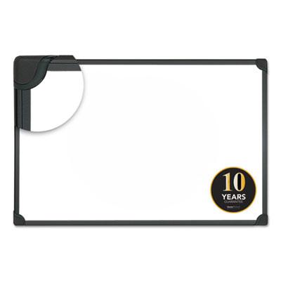 Design Series Magnetic Steel Dry Erase Board, 48 x 36, White, Black Frame