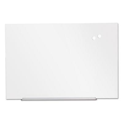 """Frameless Magnetic Glass Marker Board, 36"""" x 24"""", White"""