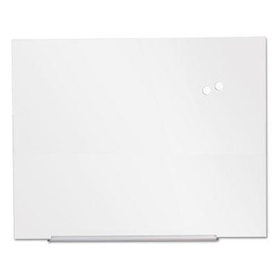 """Frameless Magnetic Glass Marker Board, 48"""" x 36"""", White"""