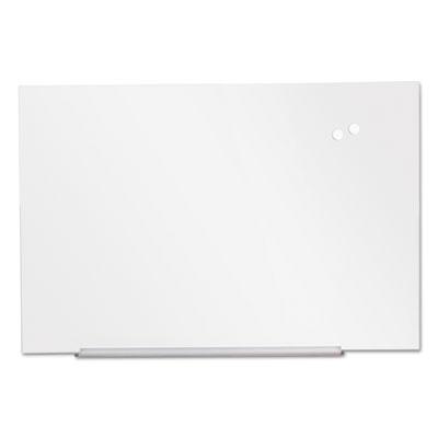 """Frameless Magnetic Glass Marker Board, 72"""" x 48"""", White"""