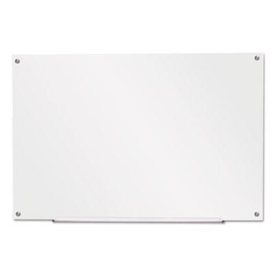 """Frameless Glass Marker Board, 36"""" x 24"""", White"""