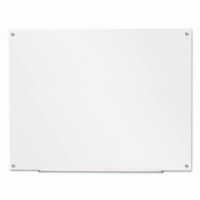 """Frameless Glass Marker Board, 48"""" x 36"""", White"""