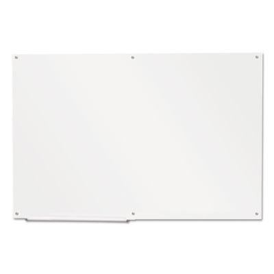 """Frameless Glass Marker Board, 72"""" x 48"""", White"""
