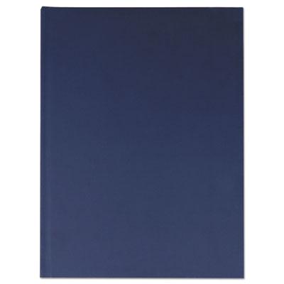 Casebound Hardcover Notebook, 10 1/4 x 7 5/8, Dark Blue Linen,
