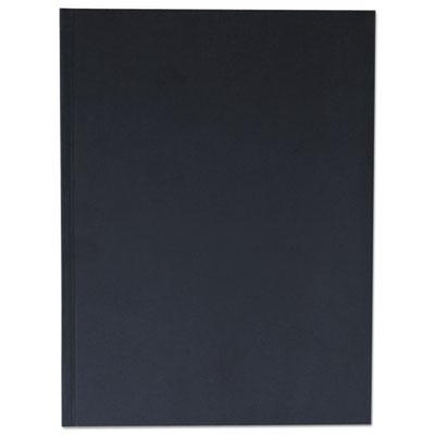 Casebound Hardcover Notebook, 10 1/4 x 7 5/8, Black Linen