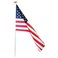 Valley Forge US1-1 PVC Bagged USA Flag Kit, 3 ft W x 5 ft L, Polycotton