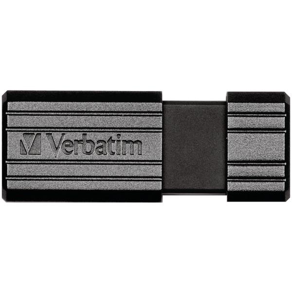 PinStripe USB Flash Drive, 16GB, Black