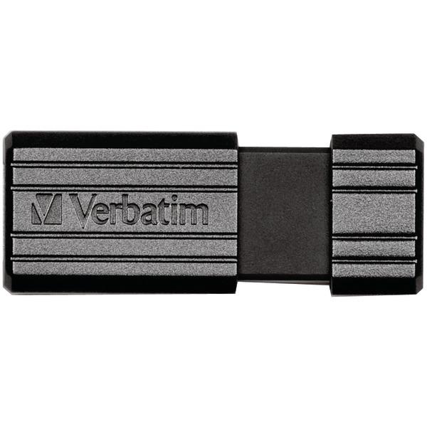PinStripe USB Flash Drive, 128GB, Black
