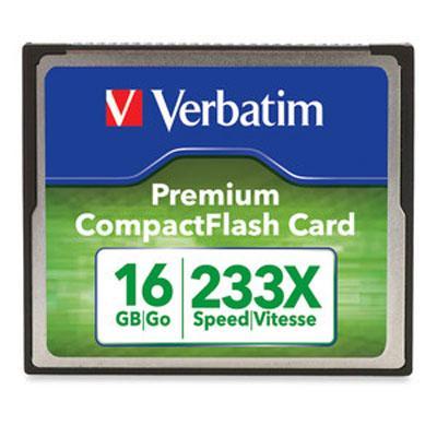 Premium CompactFlash Memory Card, 16GB, 233X Maximum Transfer Rate