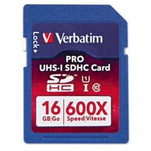 Pro 600X SDHC Memory Card, Class 10 UHS-1, 16GB
