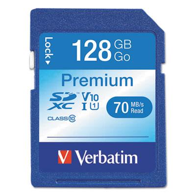 128GB Premium SDXC Memory Card, UHS-I V10 U1 Class 10
