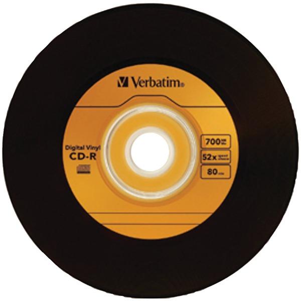 VERBATIM 97935 700MB 80-Minute Digital Vinyl CD-R, 10 pk