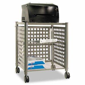 Deskside Machine Stand, Two-Shelf, 21 1/2w x 17 7/8d x 27h, Matte Gray