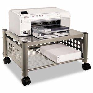 Underdesk Machine Stand, One-Shelf, 21 1/2w x 17 7/8d x 11 1/2h, Matte Gray